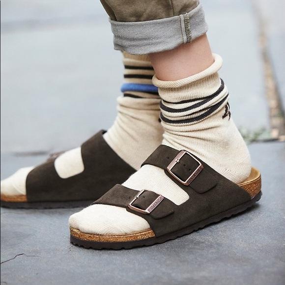 Birkenstock Arizona Mocha Suede Leather Sandals